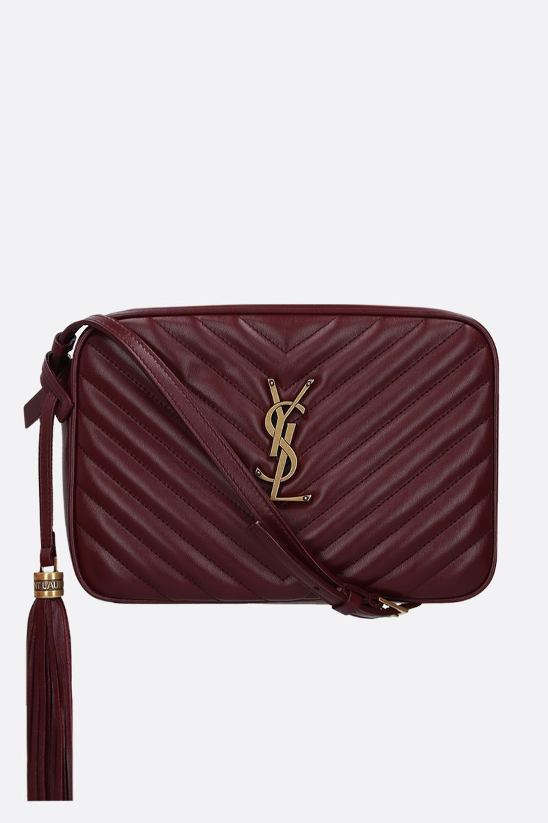 SAINT LAURENT: Lou quilted leather crossbody bag Color Red_1