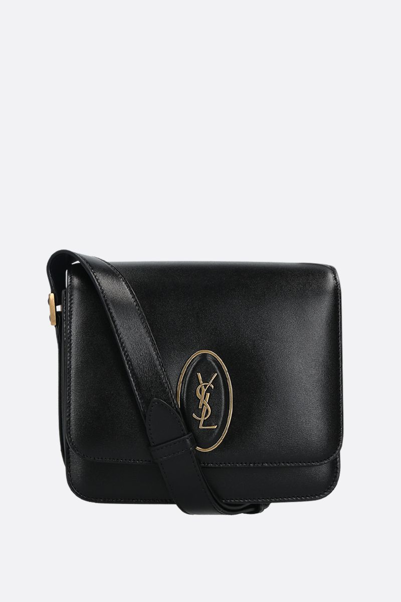 SAINT LAURENT: Saddle Le 61 smooth leather crossbody bag Color Black_1