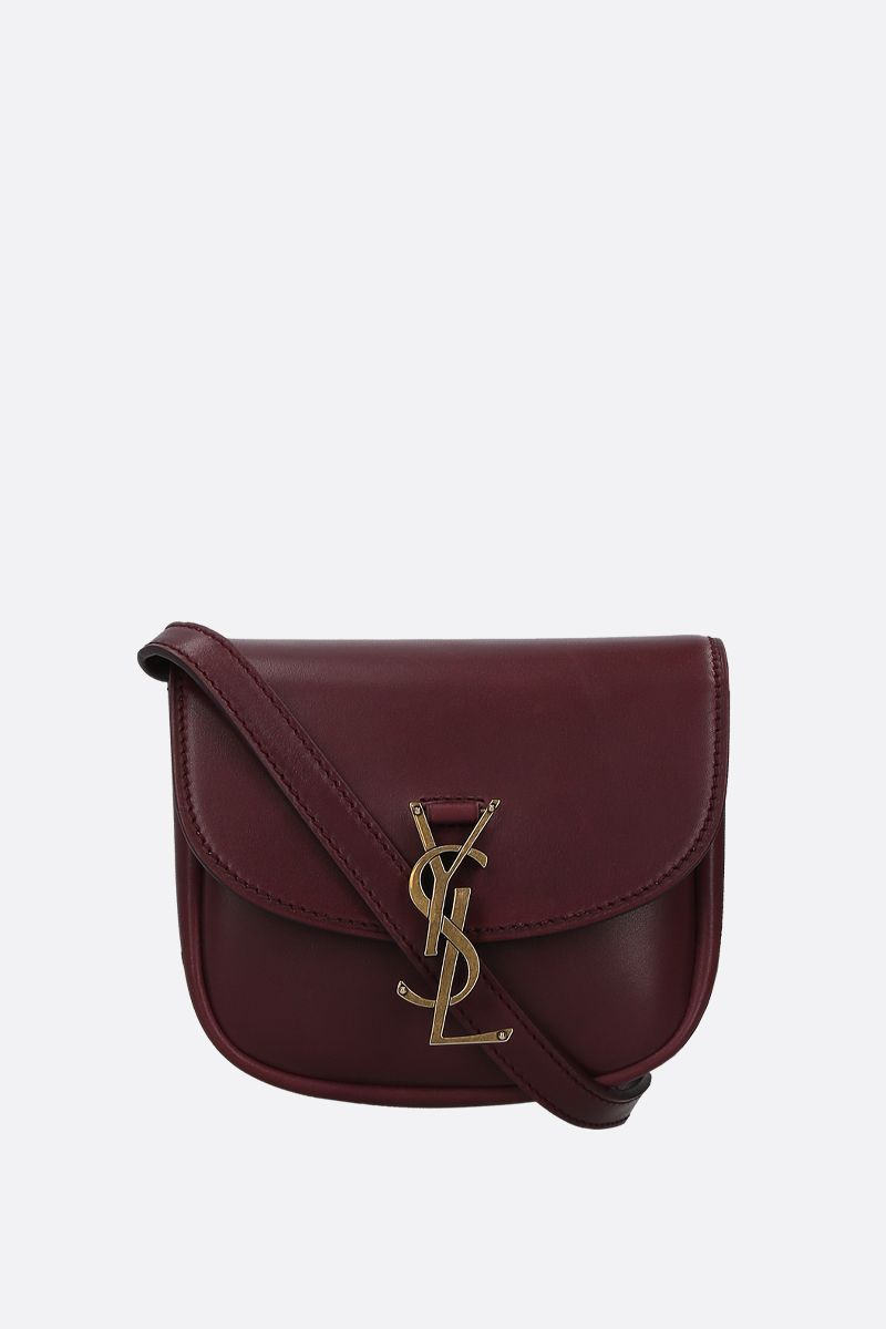 SAINT LAURENT: Kaia mini smooth leather crossbody bag Color Red_1