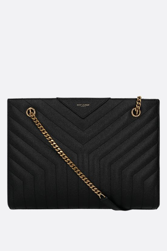 SAINT LAURENT: Joan shoulder bag in quilted leather Color Black_1
