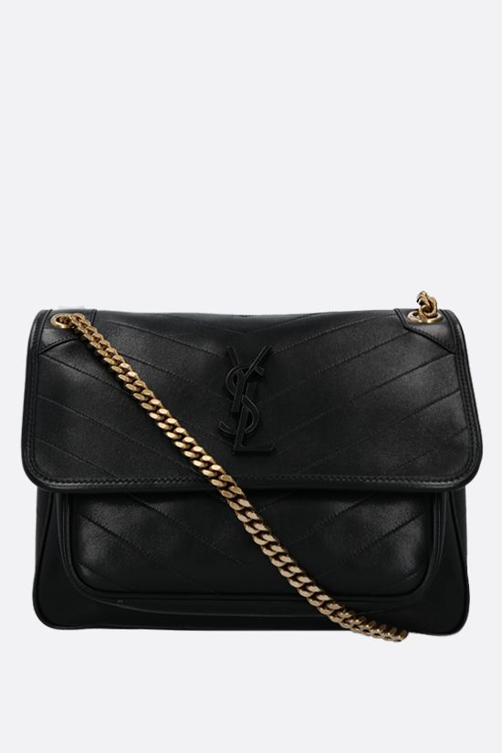 SAINT LAURENT: Niki medium soft nappa shoulder bag Color Black_1