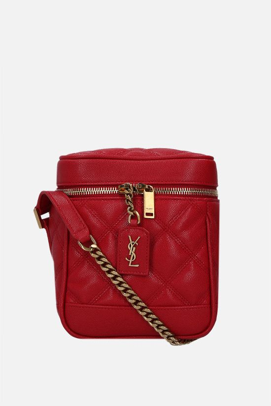 SAINT LAURENT: Vanity 80's quilted leather shoulder bag Color Red_1