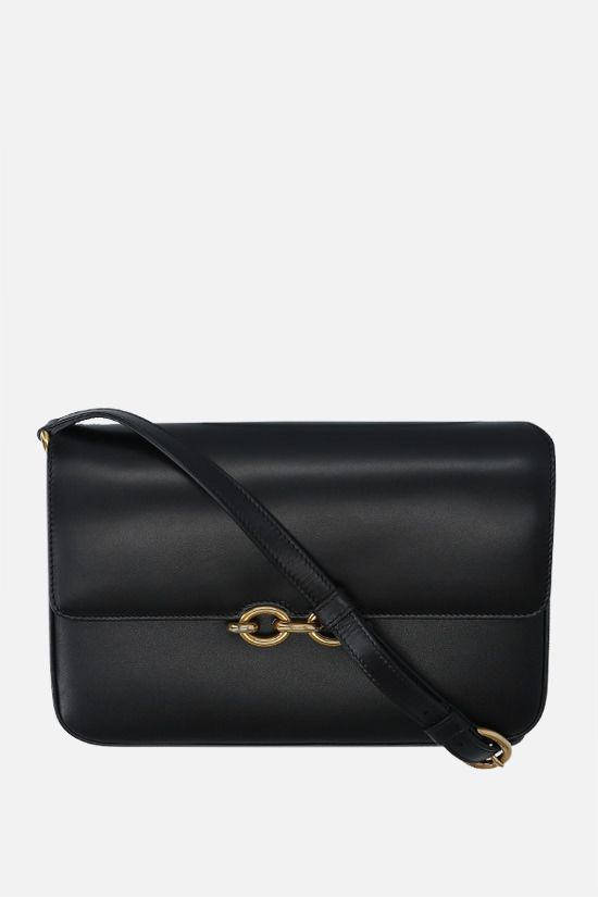 SAINT LAURENT: Le Maillon smooth leather shoulder bag Color Black_1