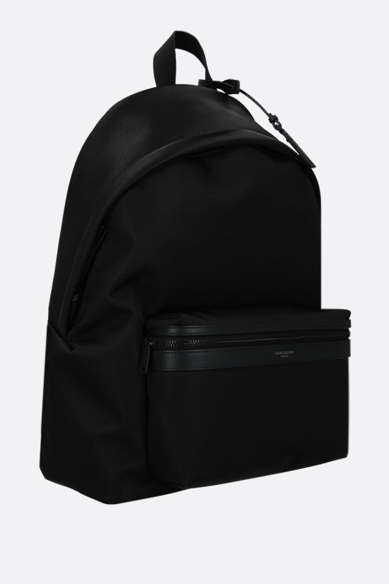 SAINT LAURENT: City nylon backpack Color Black_2