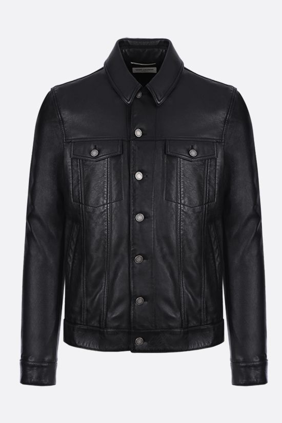SAINT LAURENT: soft nappa leather jacket Color Black_1