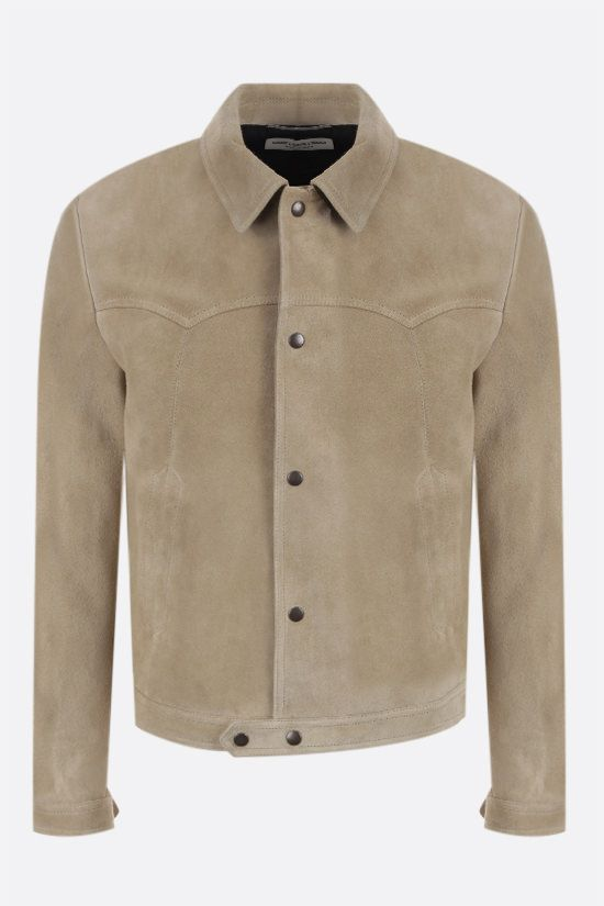 SAINT LAURENT: suede jacket Color Yellow_1