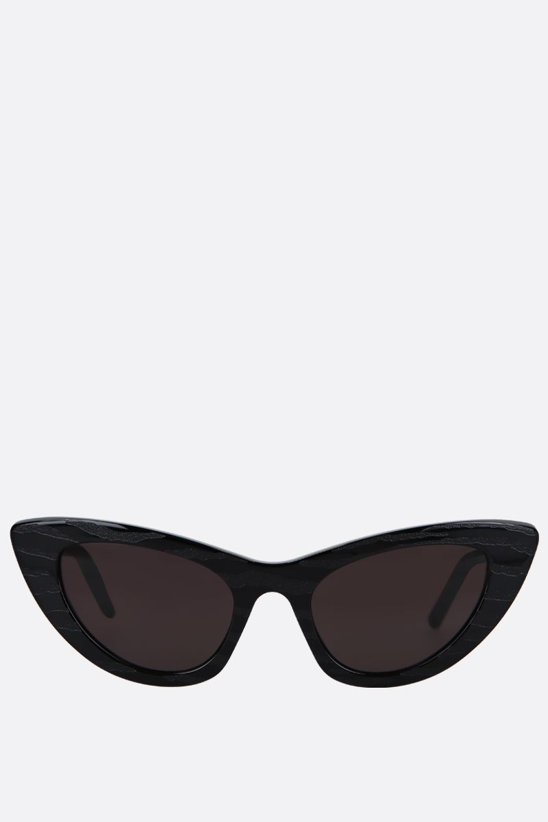 SAINT LAURENT: SL 213 Zebra cat eye sunglasses in acetate_1