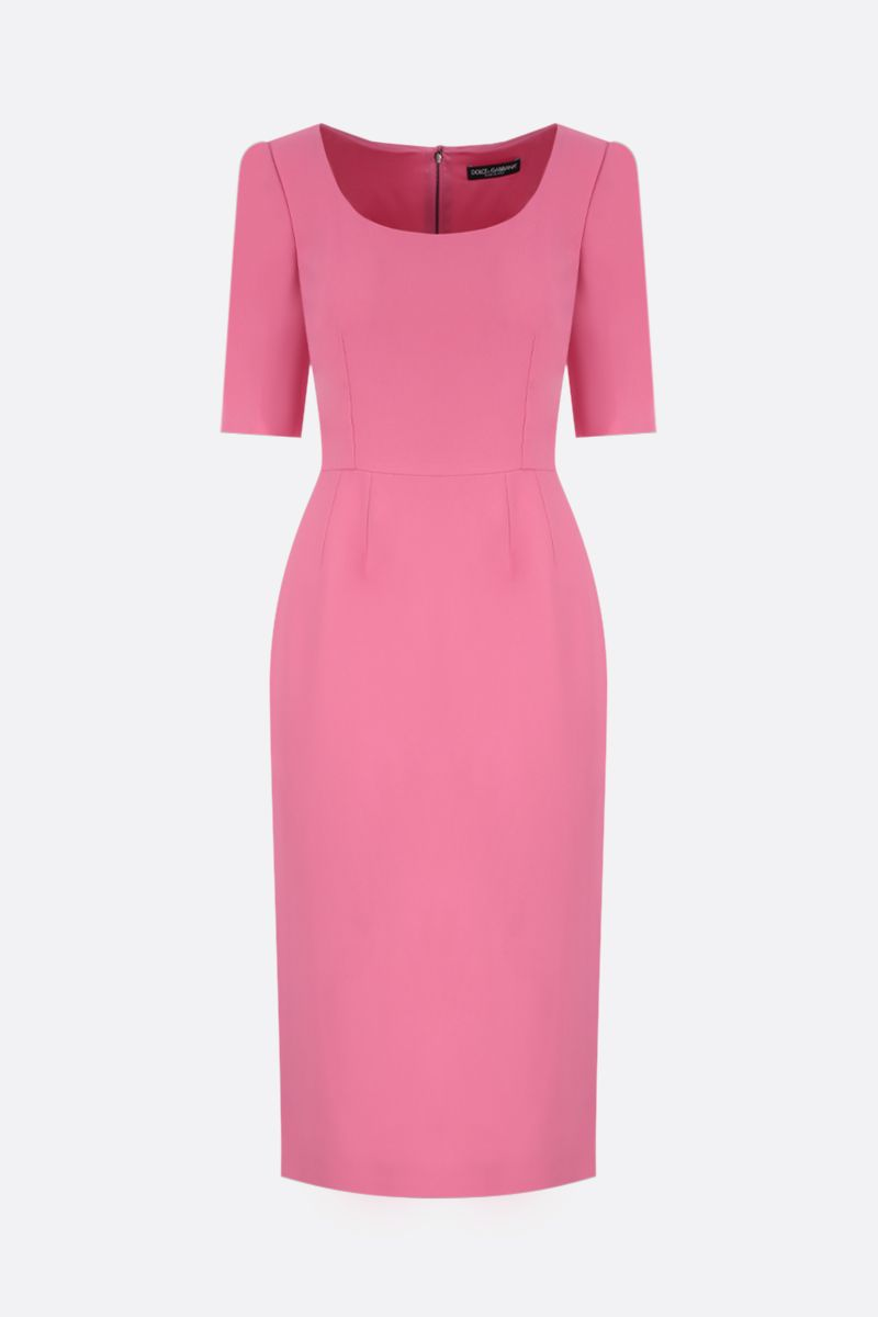 DOLCE & GABBANA: stretch cady midi dress Color Pink_1