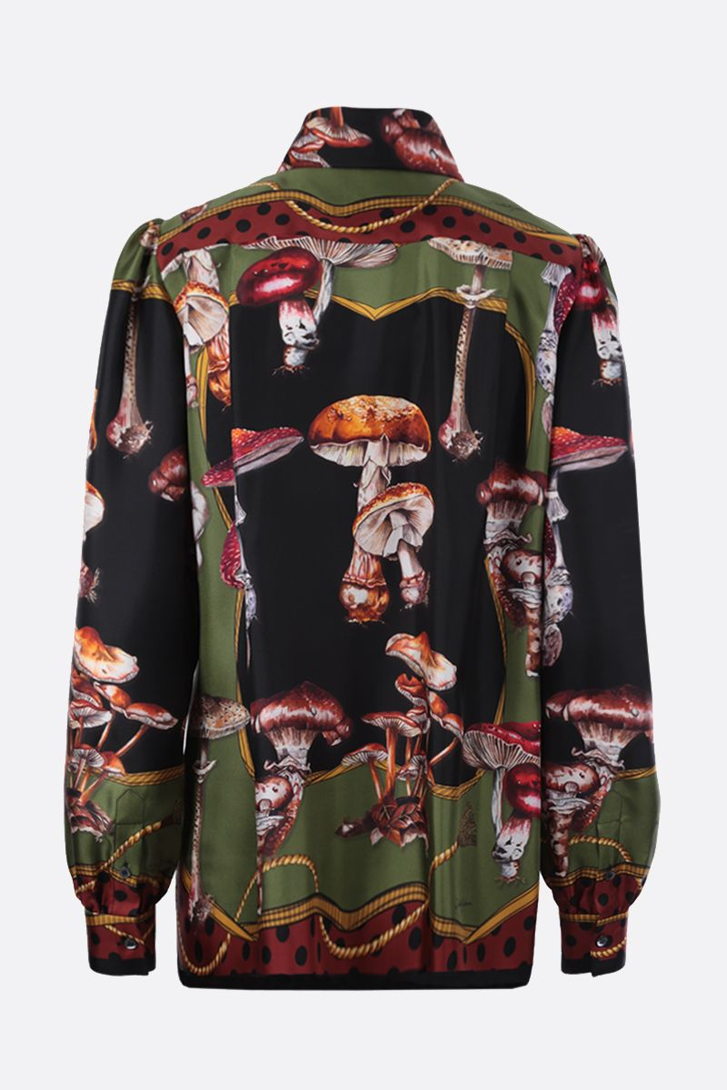 DOLCE & GABBANA: autumn print silk shirt Color Multicolor_2