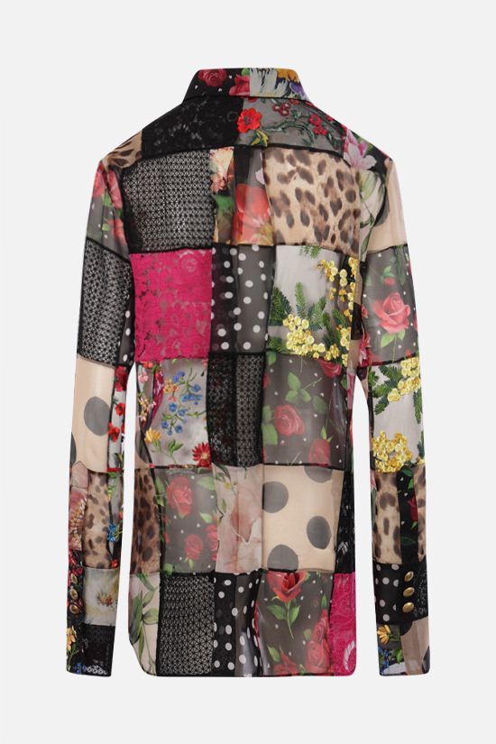 DOLCE & GABBANA: oversize shirt in a patchwork of fabrics Color Multicolor_2