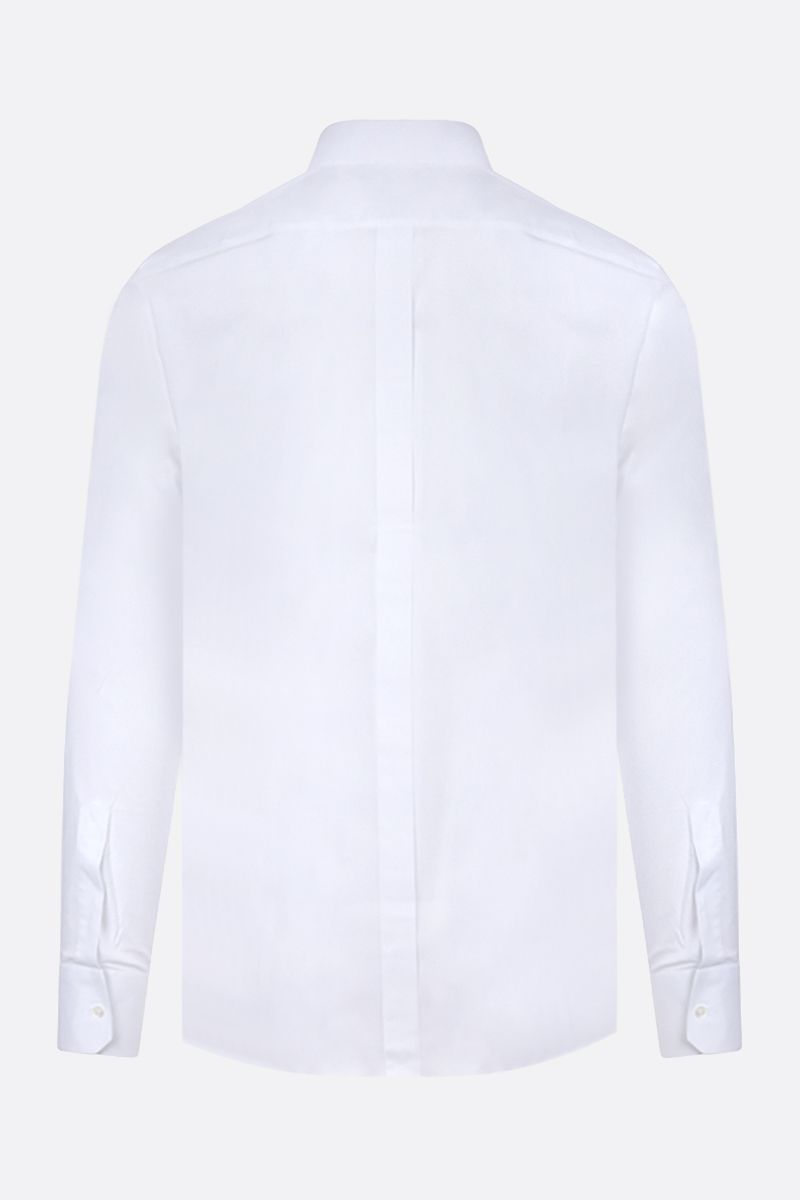 DOLCE & GABBANA: Gold-fit stretch poplin shirt Color White_2