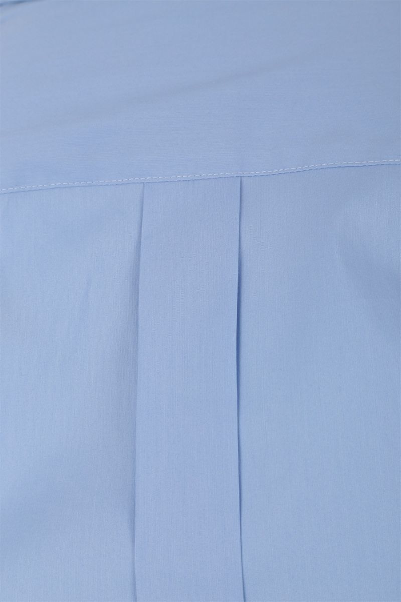 DOLCE & GABBANA: stretch poplin gold-fit shirt Color Blue_3