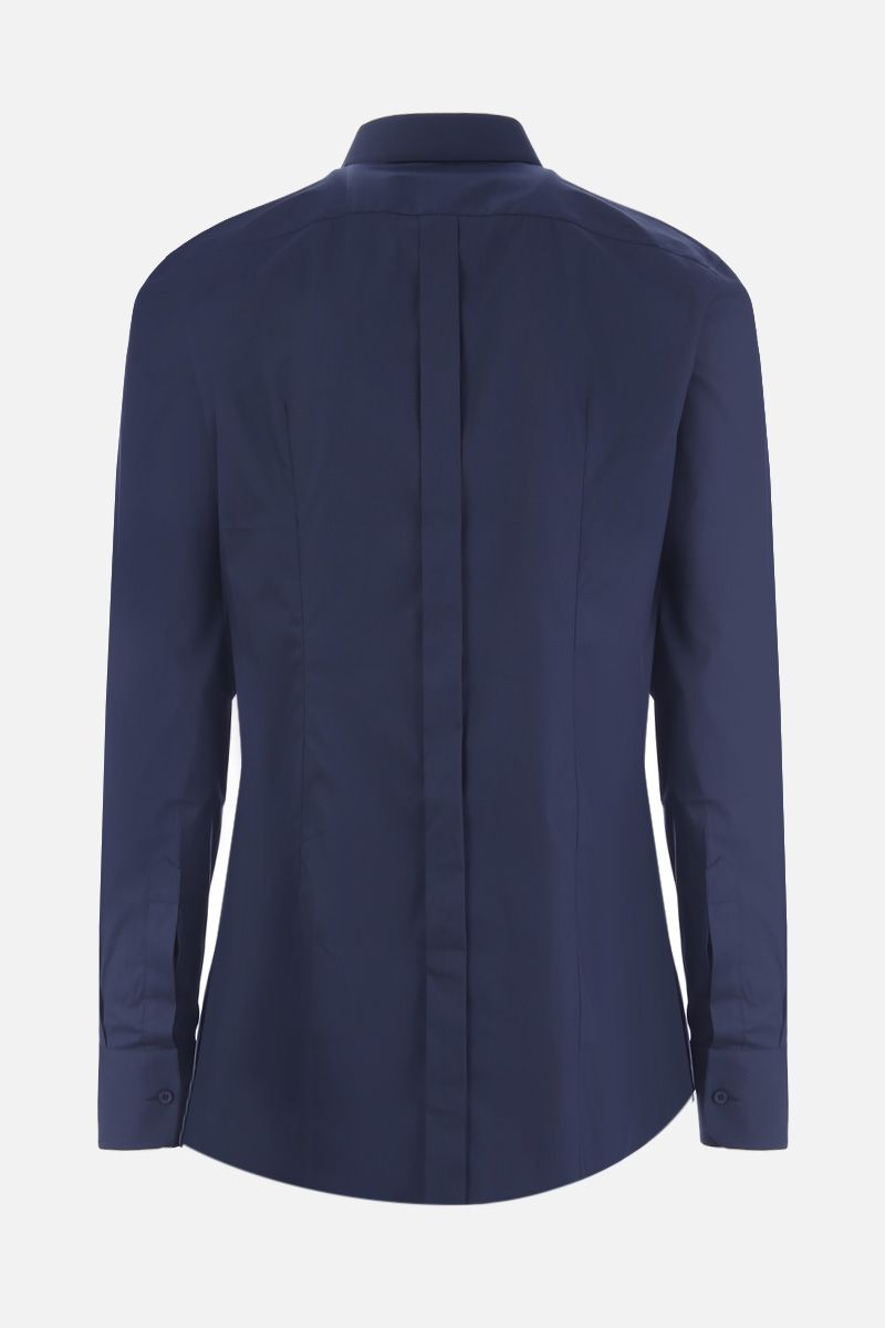 DOLCE & GABBANA: stretch poplin gold-fit shirt Color Blue_2