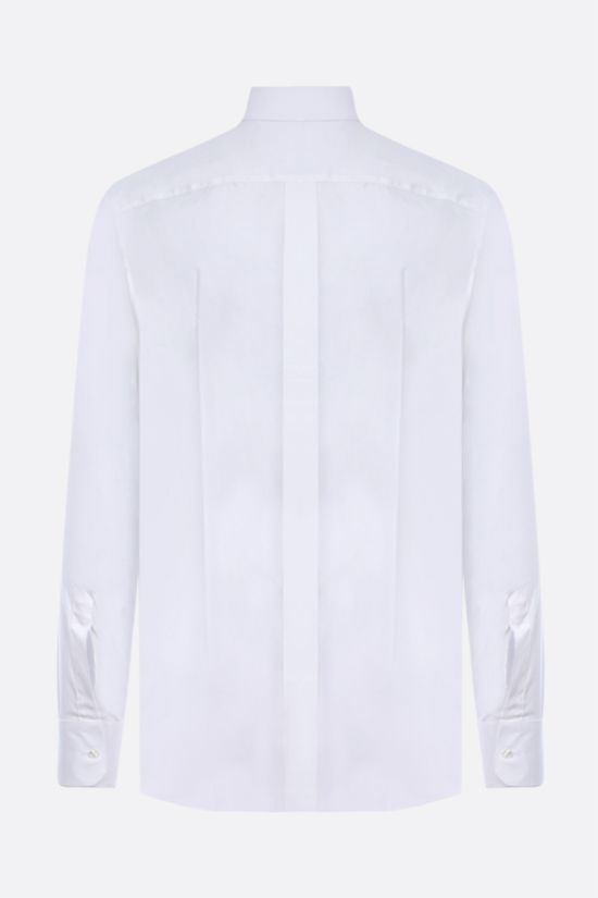 DOLCE & GABBANA: gold-fit stretch cotton shirt Color White_2