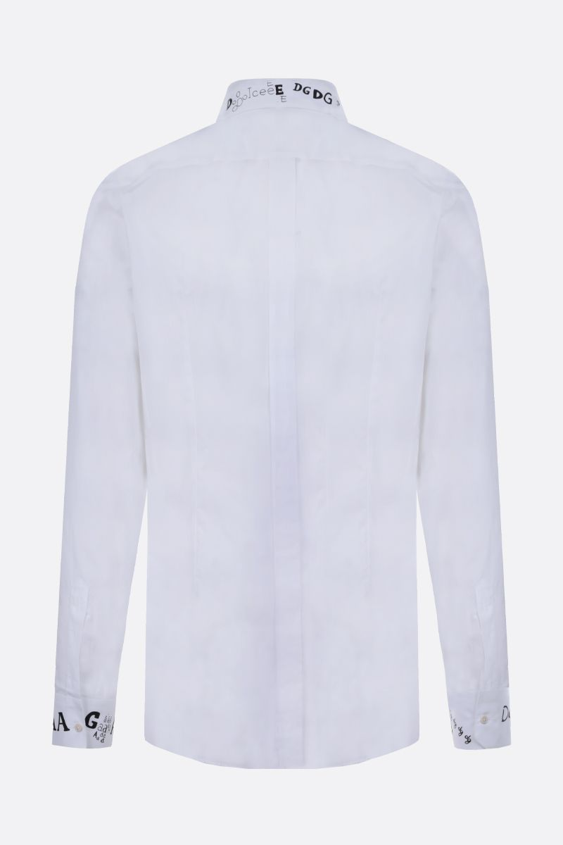 DOLCE & GABBANA: Gold-fit cotton shirt Color White_2