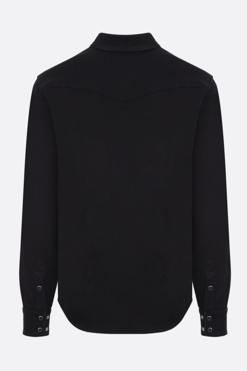 DOLCE & GABBANA: casual shirt in cotton blend Color Black_3