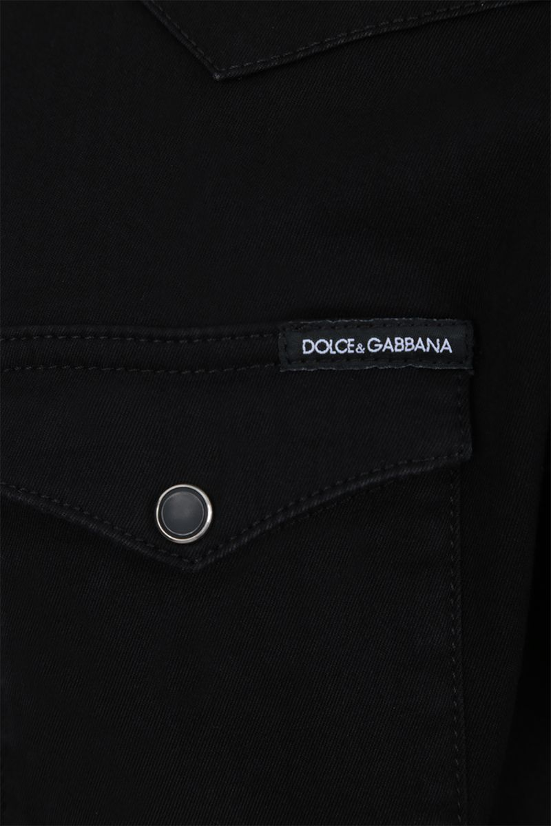 DOLCE & GABBANA: casual shirt in cotton blend Color Black_4