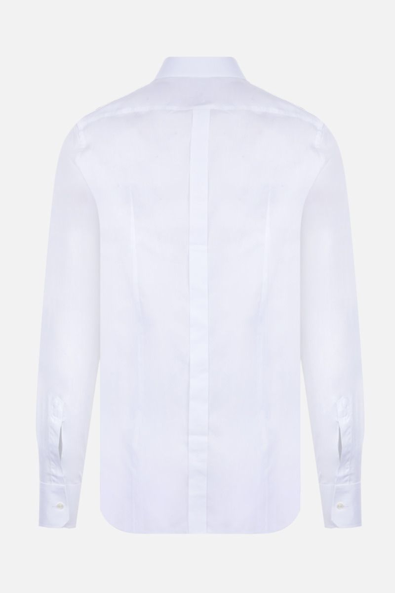 DOLCE & GABBANA: Crown patch-detailed poplin shirt Color White_2