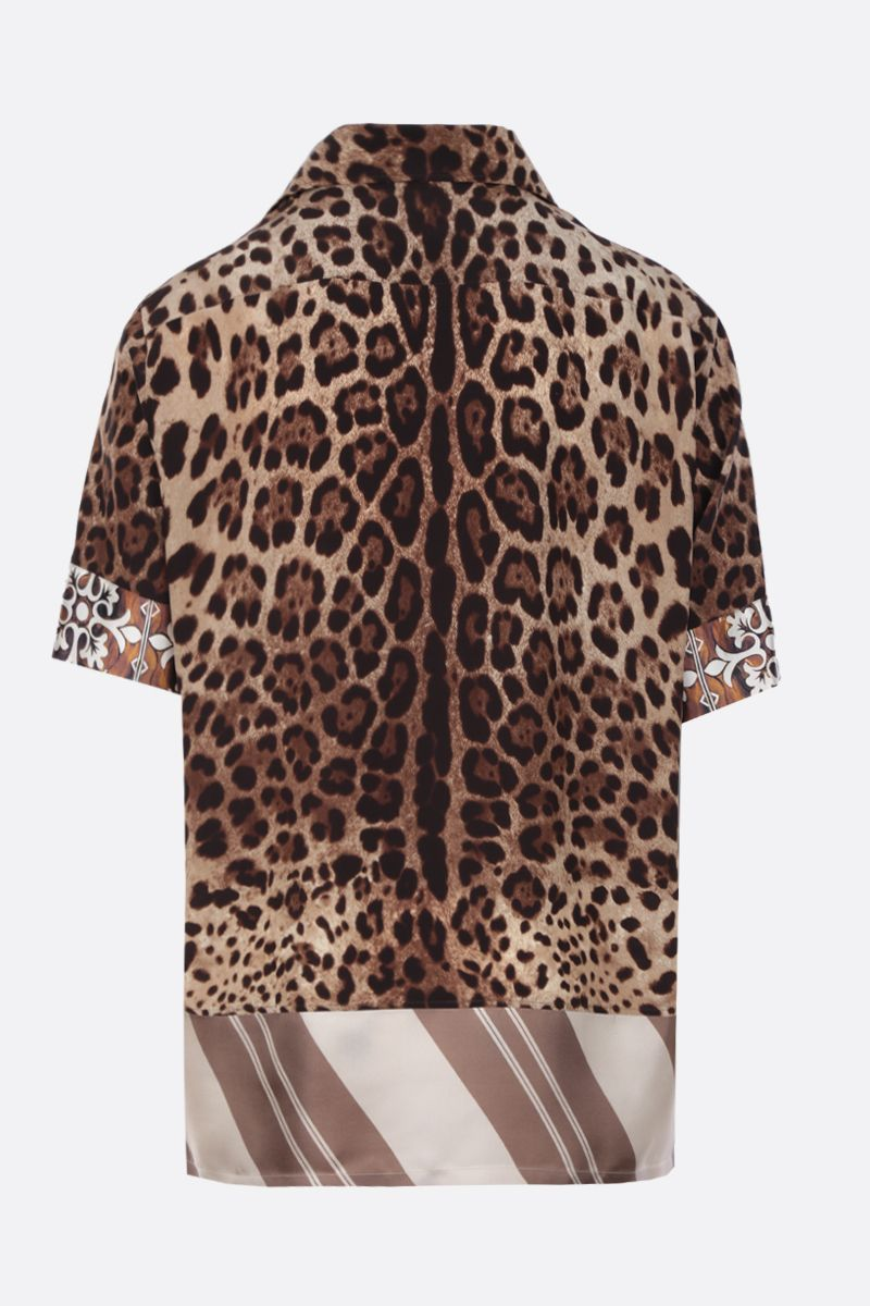 DOLCE & GABBANA: printed silk bowling shirt Color Multicolor_2