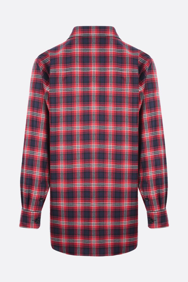DOLCE & GABBANA: logo-detailed check wool shirt Color Multicolor_2