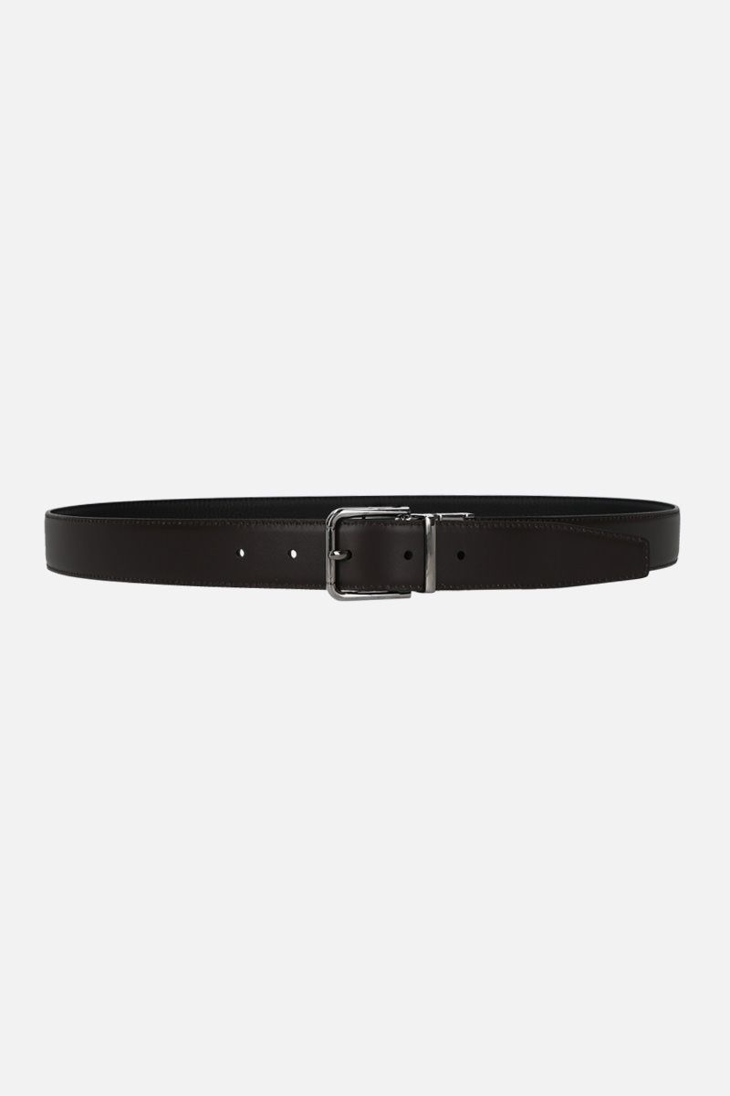 DOLCE & GABBANA: grainy and smooth leather reversible belt_2