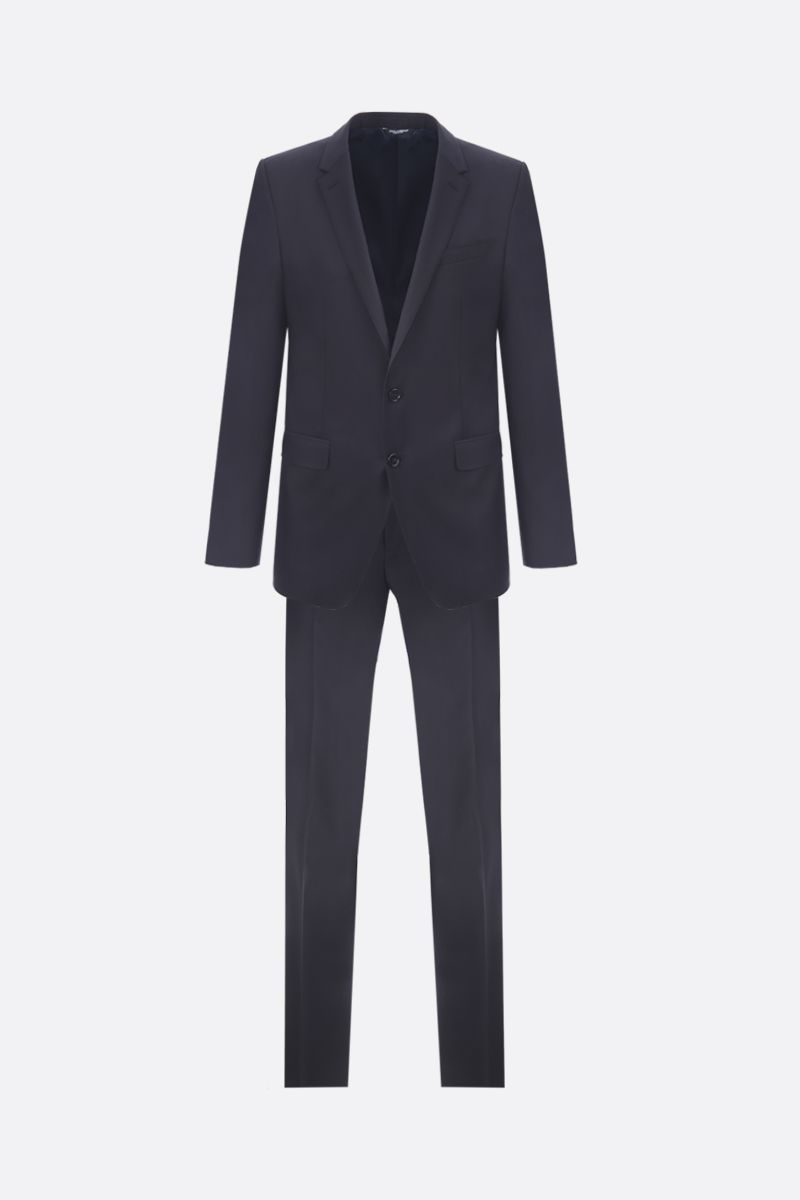DOLCE & GABBANA: two-pieces suit in lightweight wool Color Blue_1