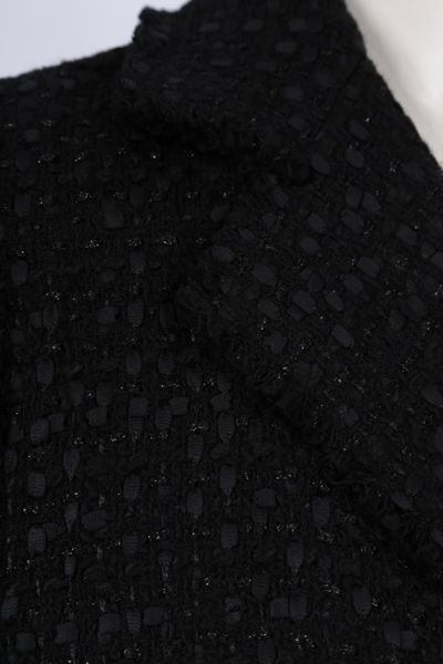 DOLCE & GABBANA: tweed double-breasted jacket Color Black_2