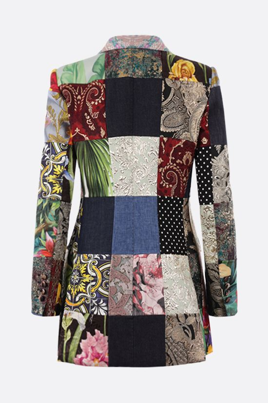 DOLCE & GABBANA: double-breasted patchwork jacquard jacket Color Multicolor_2
