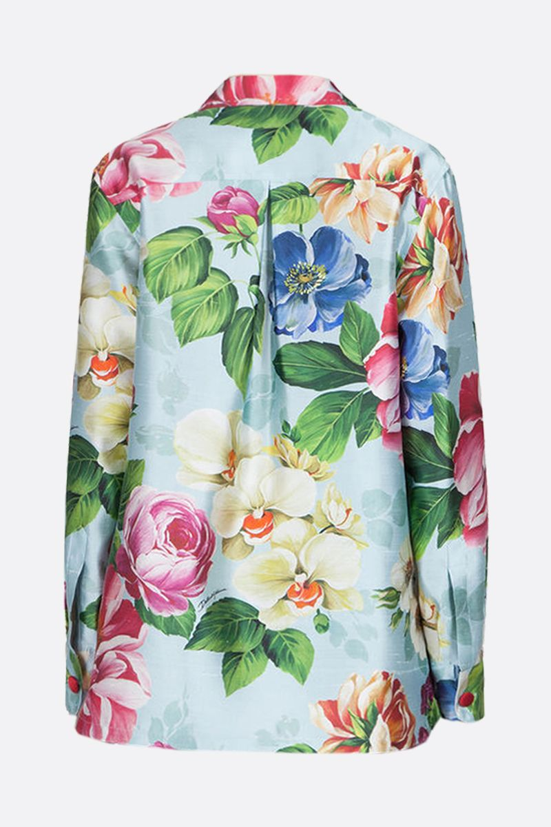 DOLCE & GABBANA: floral shantung double-breasted jacket_2