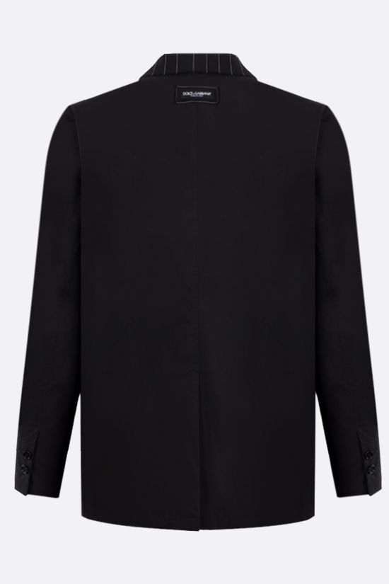 DOLCE & GABBANA: single-breasted wool cotton blend jacket Color Black_2