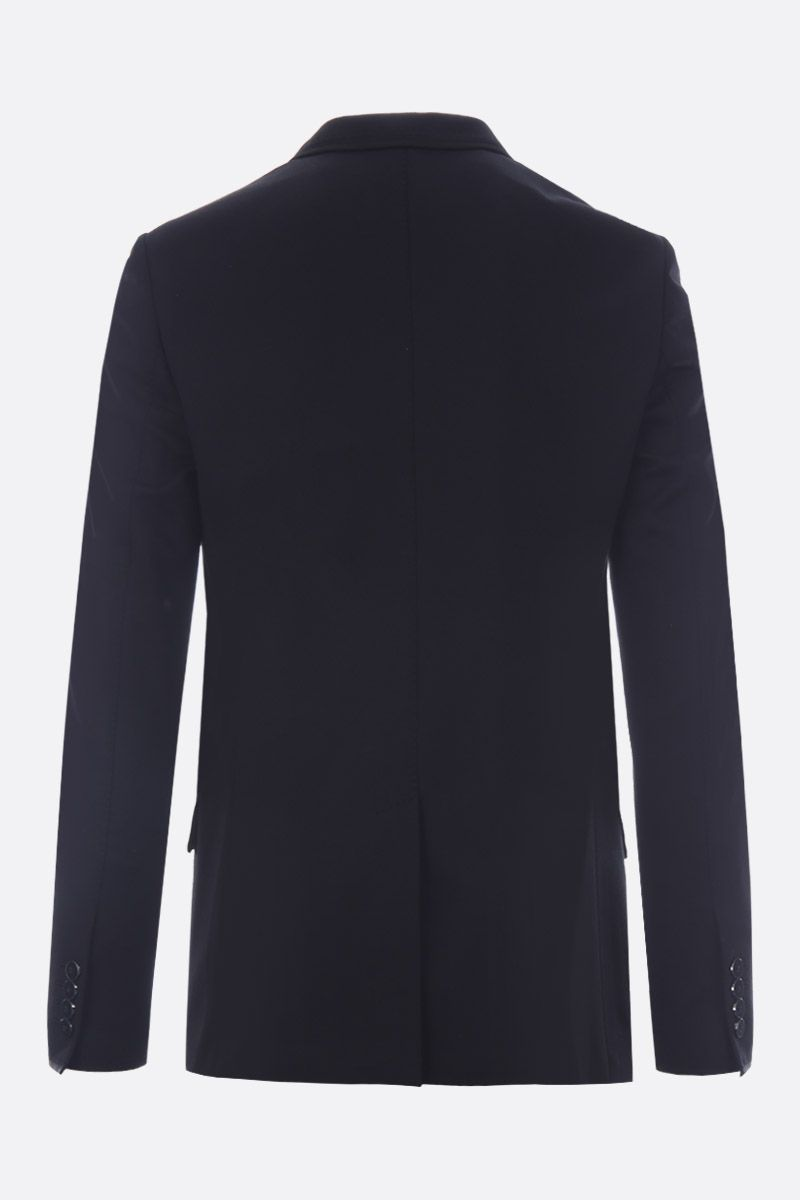 DOLCE & GABBANA: DG Crown patch jersey single-breasted jacket Color Black_2