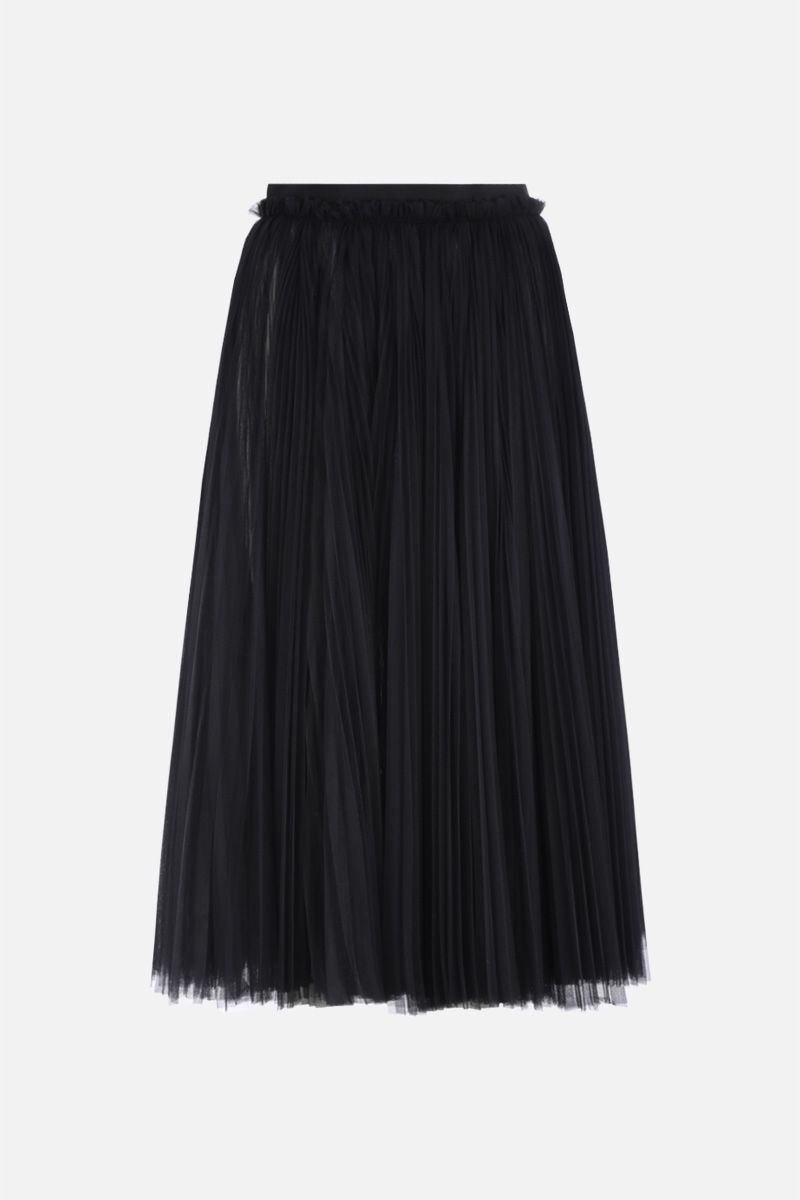 DOLCE & GABBANA: circle skirt in pleated tulle Color Black_1