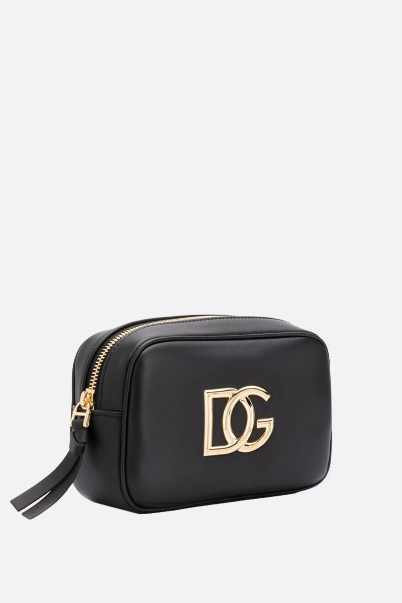 DOLCE & GABBANA: DG-detailed smooth leather belt bag Color Black_2