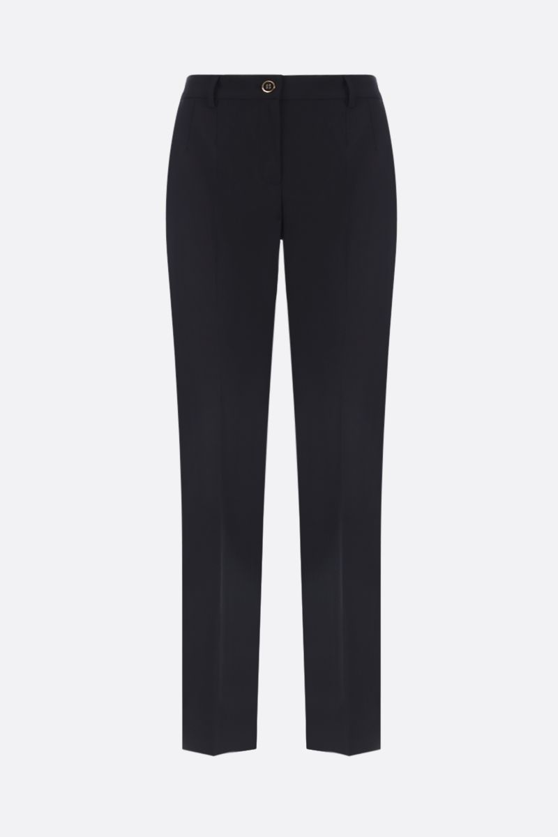 DOLCE & GABBANA: stretch wool slim-fit pants Color Black_1