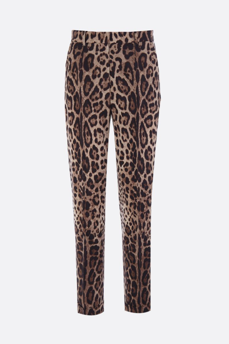 DOLCE & GABBANA: leopard print wool and silk pants Color Animalier_1