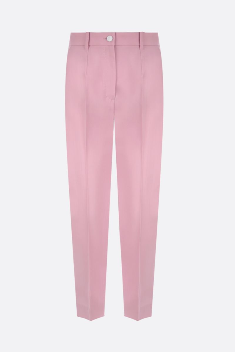 DOLCE & GABBANA: tuxedo pants in wool silk blend Color Pink_1