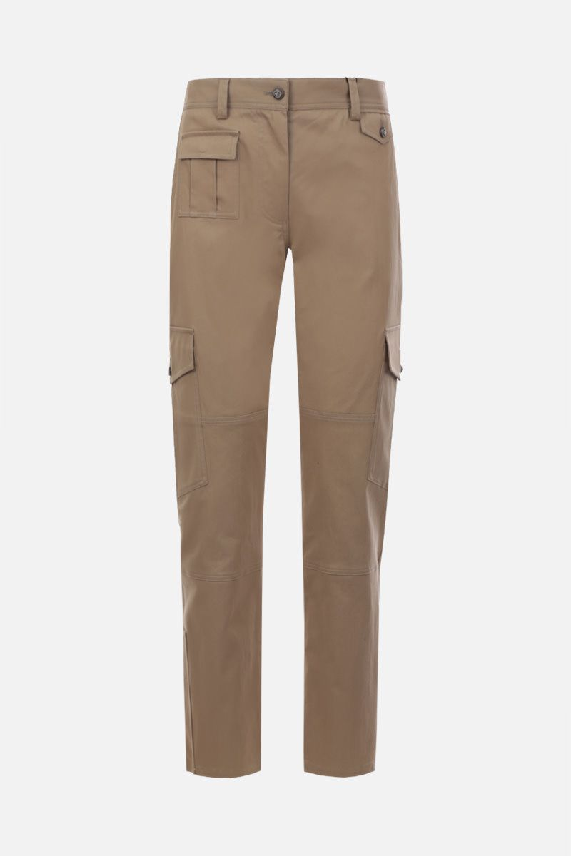DOLCE & GABBANA: stretch gabardine cargo pants Color Neutral_1