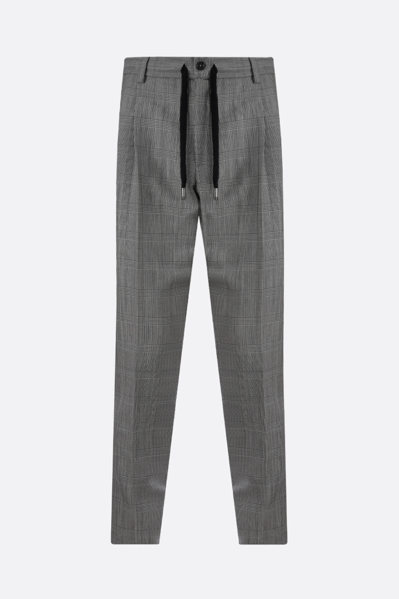 DOLCE & GABBANA: wool mohair blend darted pants Color White_1