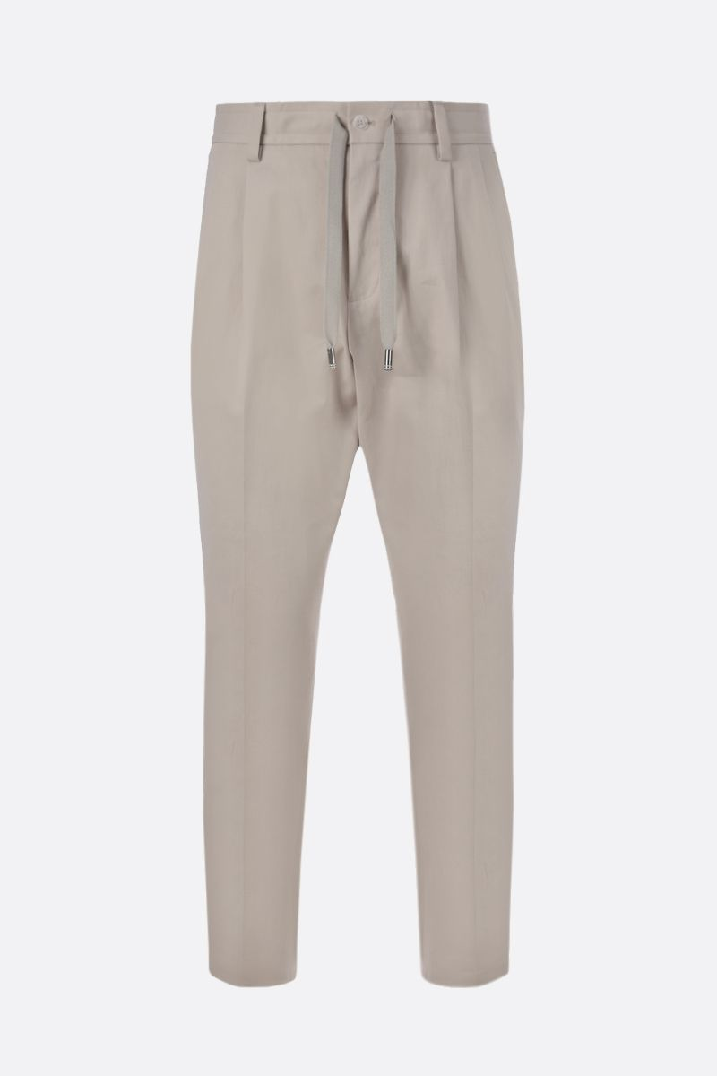 DOLCE & GABBANA: cotton darted pants Color White_1