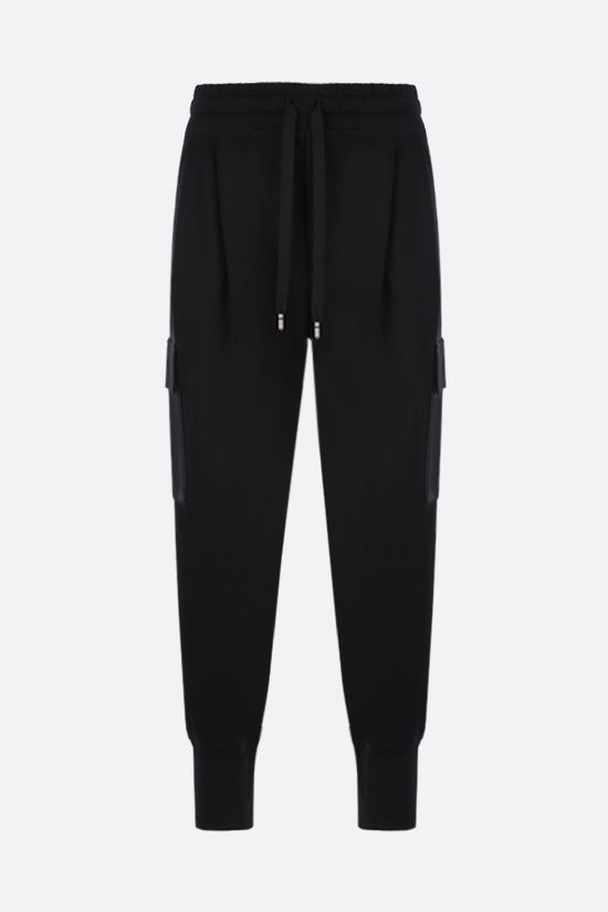 DOLCE & GABBANA: DG patch cotton cargo joggers Color Black_1
