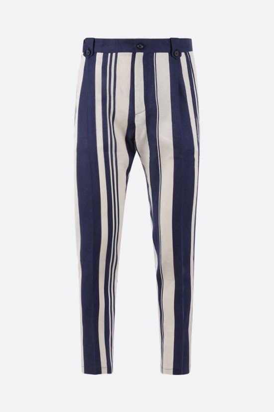 DOLCE & GABBANA: striped linen chino pants Color Multicolor_1