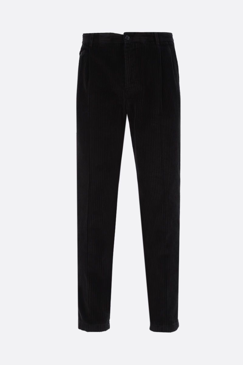 DOLCE & GABBANA: corduroy darted pants Color Black_1