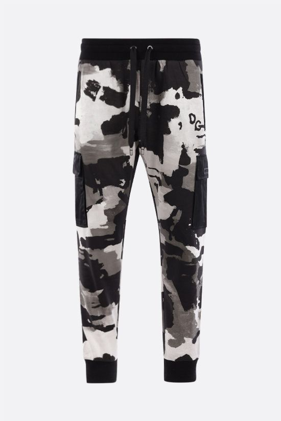 DOLCE & GABBANA: camouflage print cotton blend joggers Color Multicolor_1