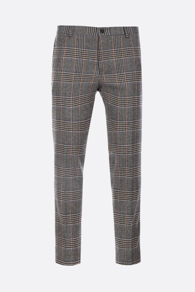 DOLCE & GABBANA: houndstooth wool blend slim-fit pants_1