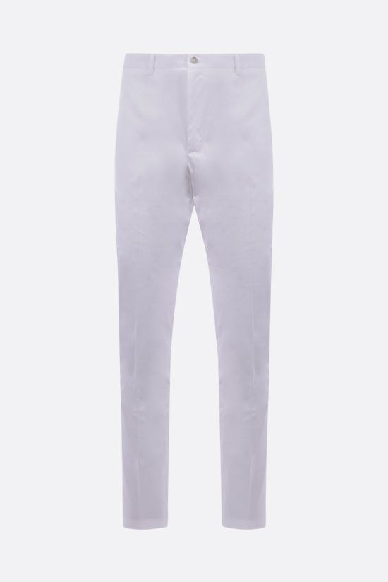DOLCE & GABBANA: stretch cotton slim-fit pants Color White_1