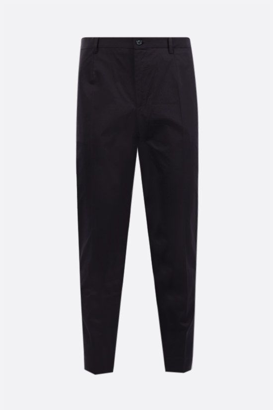 DOLCE & GABBANA: stretch cotton slim-fit pants Color Blue_1
