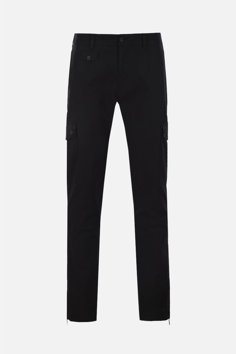 DOLCE & GABBANA: gabardine cargo pants Color Black_1