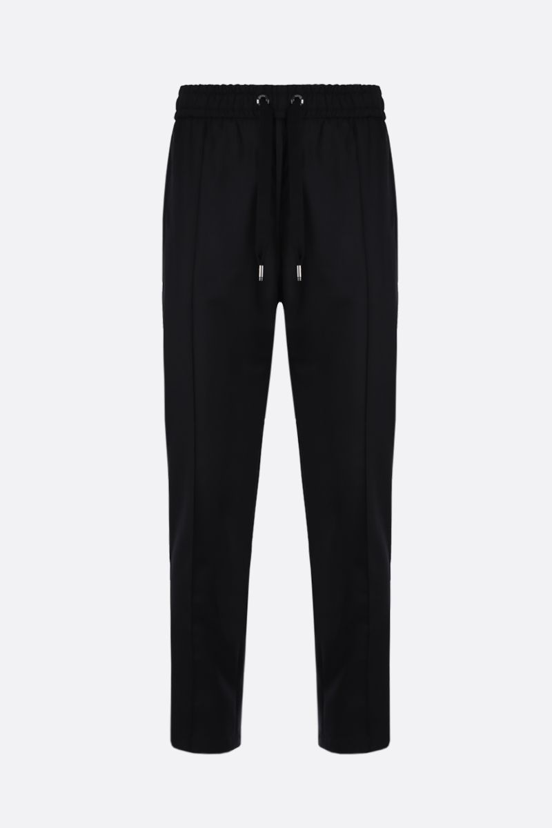 DOLCE & GABBANA: logo-detailed wool joggers Color Black_1