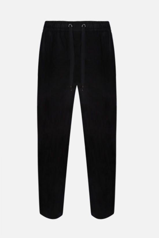 DOLCE & GABBANA: stretch cotton joggers Color Black_1