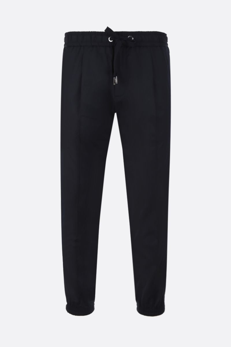 DOLCE & GABBANA: technical fabric joggers Color Blue_1